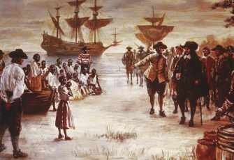 Dutch Slave Ship Arrives In Virginia by Hulton Archive