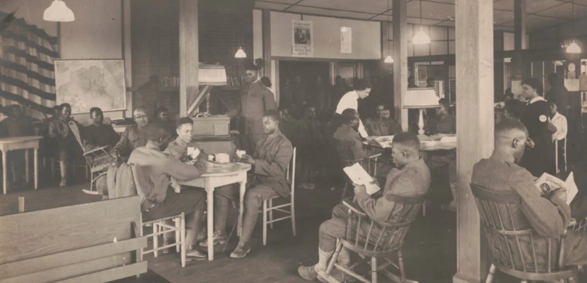 soldiers at a YWCA Hostess House | Zinn Education Project