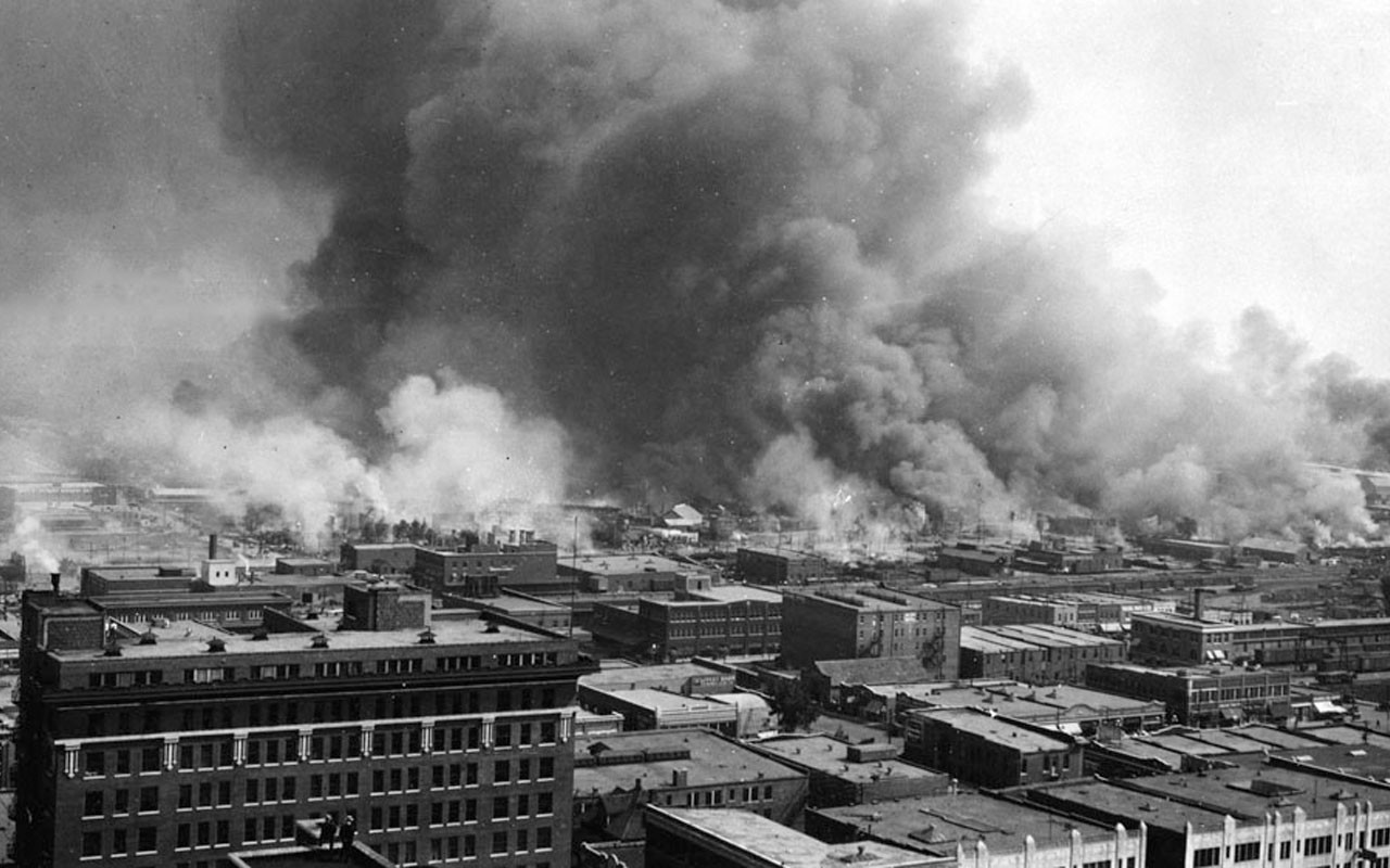 After the Mob had Passed,1921,Rubble of Houses,Tulsa,Oklahoma,Race Riots