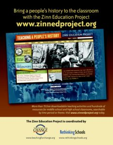 Zinn Education Project Poster: Download a hi-resolution file and print at almost any size | Zinn Education Project: Teaching People's History