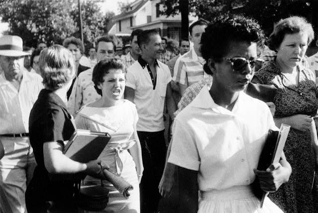 Woman screaming at Elizabeth Ann Eckford | Zinn Education Project