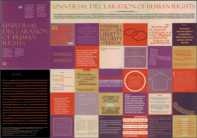 Universal Declaration of Human Rights Poster Zinn Education Project