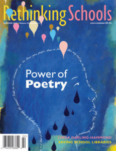 """Cover of """"Power of Poetry"""" - RS magazine 
