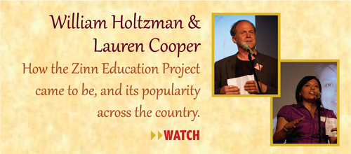 Zinn Room Dedication: William Holtzman and Lauren Cooper | Zinn Education Project: Teaching People's History