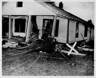 Dec. 25, 1951: Bombing of the Moore Family Home (This Day in History) - The Moore's house after bombing | Zinn Education Project: Teaching People's History