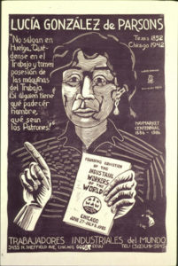 Lucy Parsons Linocut by Carlos Cortez   Zinn Education Project: Teaching People's History