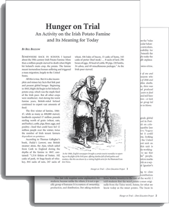 Hunger on Trial teaching activity available online.