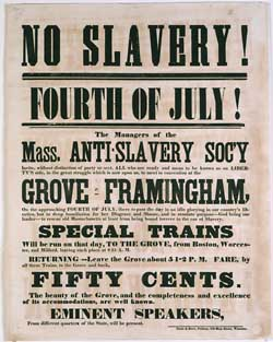 Anti-slavery Society Fourth of July poster | Zinn Education Project