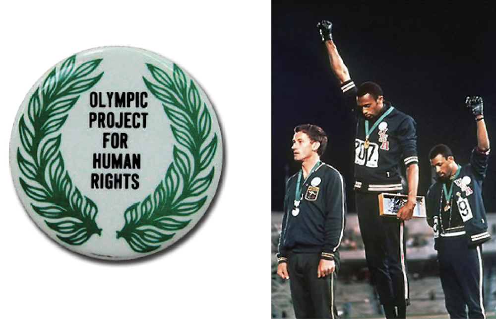OPHR button - John Carlos and Tommy Smith | Zinn Education Project