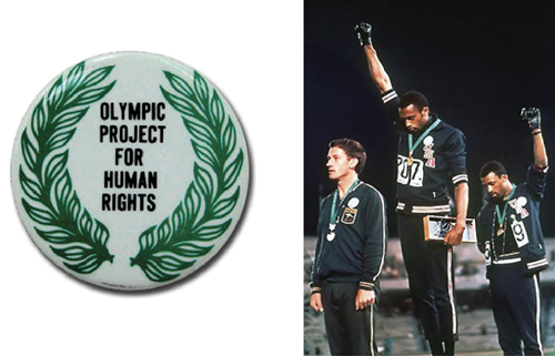 OPHR button / Tommie Smith and John Carlos iconic image