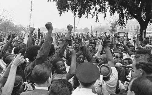 The website offers hundreds of stories and images from history such as this one of Rev. Ralph Abernathy and Other Demonstrators at the Poor People's Campaign.