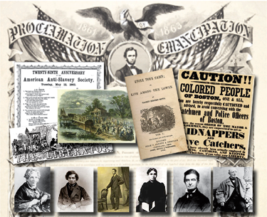 Collage of anti-slavery efforts | Zinn Education Project: Teaching People's History