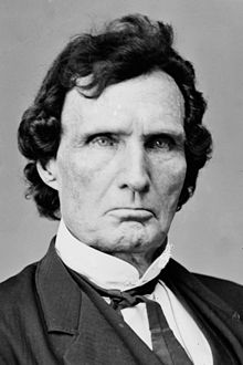 "Top: Thaddeus Stevens. Bottom: Tommy Lee Jones as Thaddeus Stevens in the film ""Lincoln."""