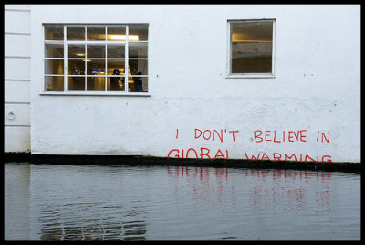 """I don't believe in global warming"" photo 