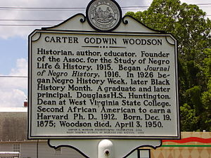 Carter G. Woodson marker | Zinn Education Project