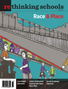 """Cover of """"Race and Place"""" - RS magazine   Zinn Education Project"""
