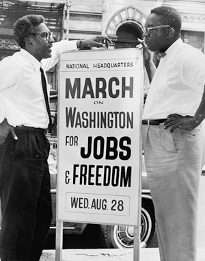 Bayard Rustin and Cleveland Robinson | Zinn Education Project