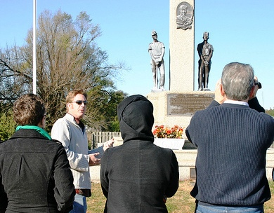Author/activist Jeff Biggers on Eco Justice tour at Mt. Olive, Nov. 2010. Photo from
