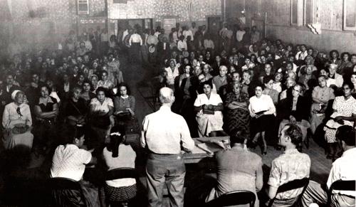 CSO Meeting in 1955. Photo: www.fredrosssr.com.
