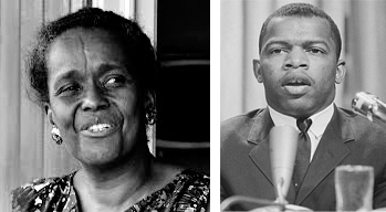 Ella Baker and John Lewis