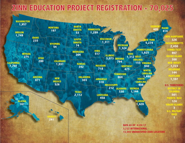 70,000 Registered Teachers Teaching Outside the Textbook | Zinn Education Project: Teaching People's History