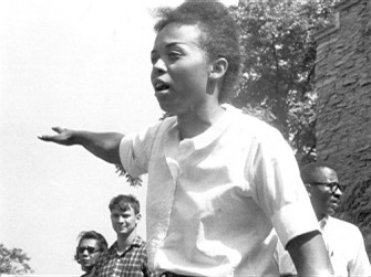 Dorie Ladner at Freedom Summer training in Oxford, Ohio. Photo by Herbert Randall, USM collection.
