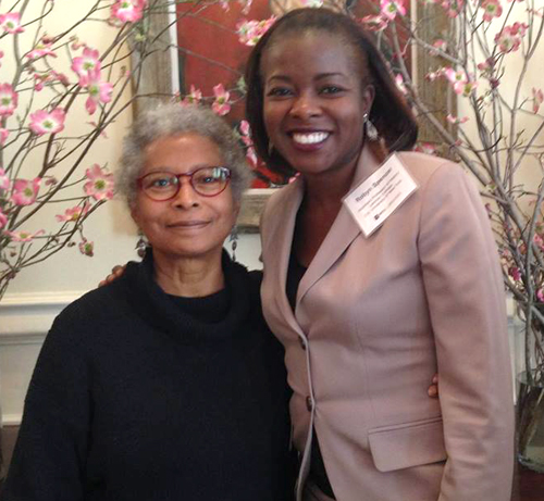 Robyn Spencer with Alice Walker at the Zinn Symposium, April, 2014. Read more.