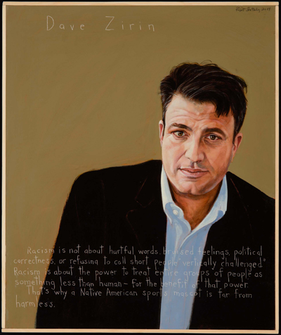 Portrait of Dave Zirin by Robert Shetterly, Americans Who Tell the Truth.