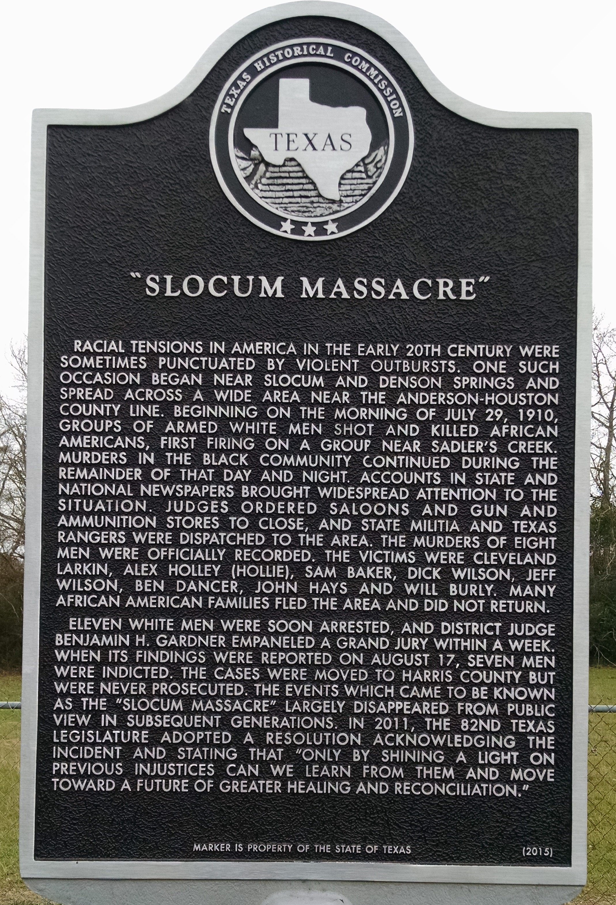Slocum Marker | Zinn Education Project: Teaching People's History