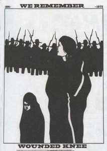 "Dec. 29, 1890: Anniversary of the Wounded Knee Massacre (This Day in History) - ""We Remember"" poster by Bruce Carter 