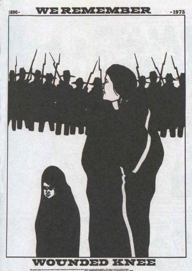 """Dec. 29, 1890: Anniversary of the Wounded Knee Massacre (This Day in History) - """"We Remember"""" poster by Bruce Carter 