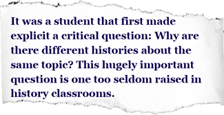 Grappling With Multiple Histories Teaching Critical Inquiry With