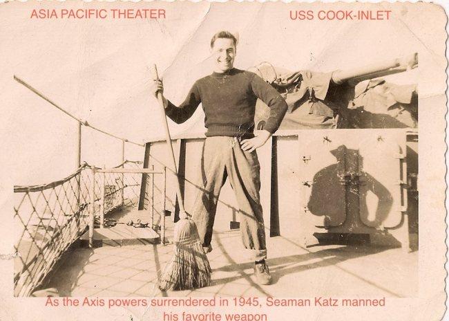 William Katz in the Navy.
