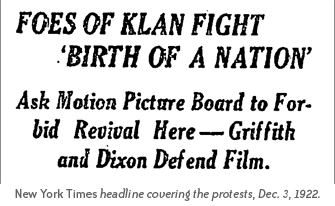 Foes of Klan Fight Birth of a Nation