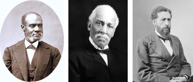 Cuban Anti-Slavery members Rev. Henry Highland Garnet, George T. Downing, and J.M. Langston.