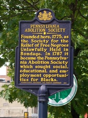 During Washingon's time, there were a number of groups organized to abolish slavery and the slave trade, including the Pennsylvania Abolition Society, once presided by Benjamin Franklin.