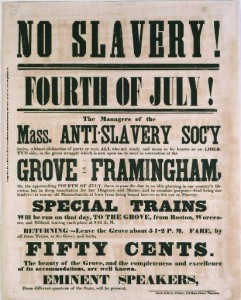 People's History of Fourth of July: Beyond 1776 - On July 4, 1854, abolitionists addressed a rally sponsored by the Massachusetts Anti-Slavery Society | Zinn Education Project: Teaching People's History