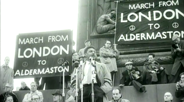 Bayard Rustin speaking at the 1958 Anti-Nuclear Rally | Zinn Education Project