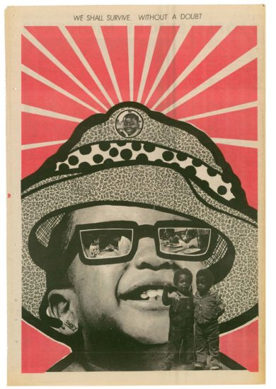 Artwork by Black Panther Party minister of culture Emory Douglas.