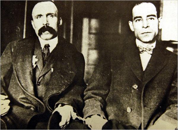 Bartolomeo Vanzetti and Nicola Sacco.