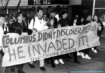 columbus_protest_uw-madison