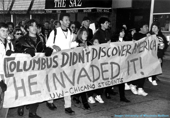 Columbus Protest | Zinn Education Project: Teaching People's History