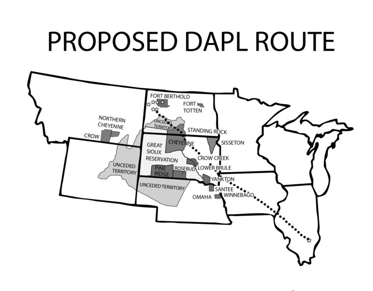 Proposed DAPL Route | Zinn Education Project: Teaching People's History