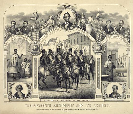 The Fifteenth Amendment and its results poster | Zinn Education Project: Teaching People's History