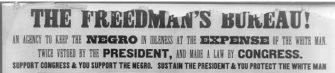 Flyer against the Freedmen's Bureau | Zinn Education Project: Teaching People's History