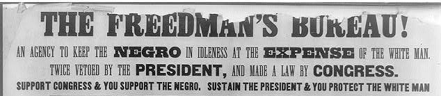 Flyer against the Freedmen's Bureau | Zinn Education Project: Teaching People's History