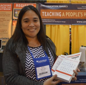 NCSS 2015 Booth - Raffle Winner | Zinn Education Project: Teaching People's History