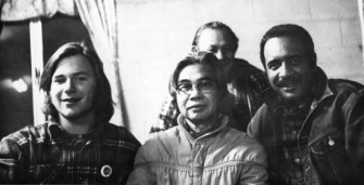 Philip Vera Cruz and others at boycott meeting | Zinn Education Project: Teaching People's History