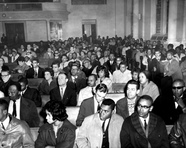 Students meet at Cornerstone Baptist Church in 1961. (Walter McCardell/Baltimore Sun)
