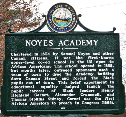 Noyes Academy Memorial Sign | Zinn Education Project: Teaching People's History